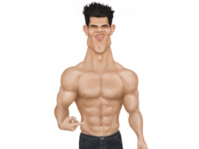 Taylor Lautner Paint Stage 2 caricature design digital painting photoshop graphic design taylor lautner