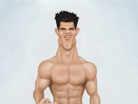 Taylor Lautner Paint Done