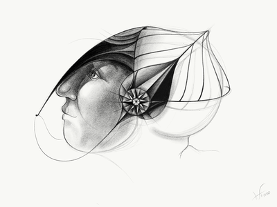 Portrait_2 ipadpro adobe sketch ipad pro hand drawing graphite digital adobe photoshop character design drawing illustration