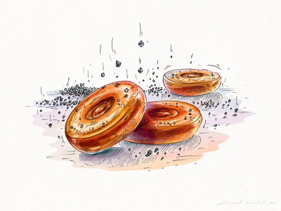 Salty caramel photoshop wacom intuos art picture image food illustration design digital character design nature hand drawing graphic drawing illustration
