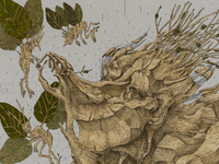 Alive forest (a detail of the process)