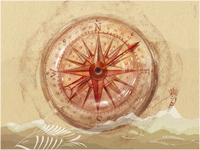Compass and hoopoe