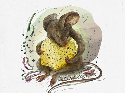 Mouse and cheese with onion and garlic (Veggo project) wacom intuos wacom tablet .psd animal illustration character digital illustration adobe photoshop onion garlic cheese mouse package illustration food illustration graphic digital character design ink hand drawing illustration drawing