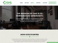 Give About Page & Mission Statement
