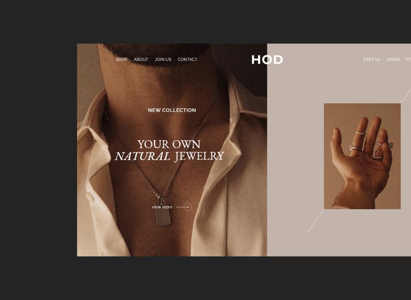 H O D ecommerce design jewelry natural uxdesign ui web minimalist