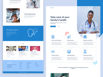 Healthlife figma pharmaceutical landing page medical health