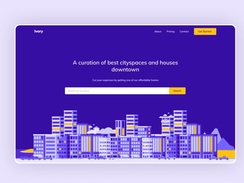 Ivory Real Estate Design real estate figma landing page