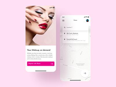 Makeup Now figma mobile app beauty makeup