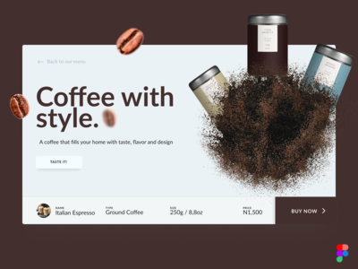 Coffee Purchase Concept