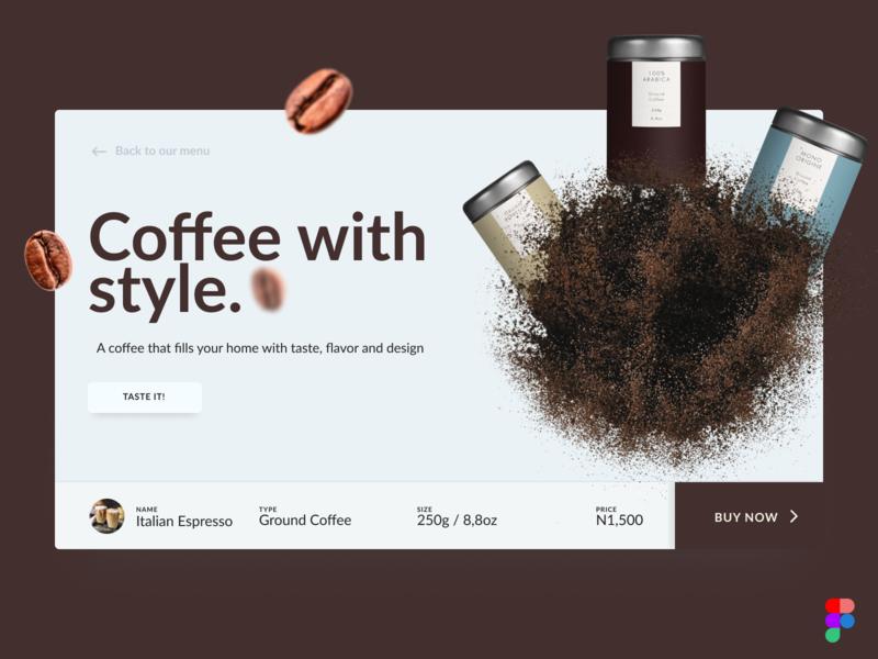 Coffee Purchase Concept concept purchase dailyui figma ui coffee flat card