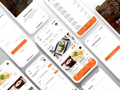 Restaurant Automation table booking figma uiux mobile app food restaurant