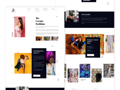 Fashion Brand Landing Page - Dephancy Couture dephancy figma landing page fashion design