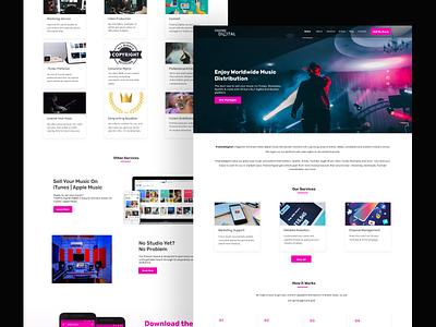 Music Distribution website figma ux ui landing page design music