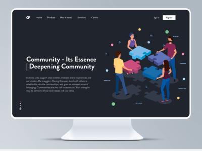 Community and Its Essence design ui community landing page figma