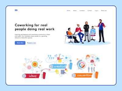 Coworking space Landing Page office ui figma landing page coworking space