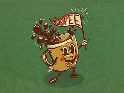Let's all go to the lobby... procreate illustration cartoon treat coffee bean banner flag splash halftones texture comic book retro illustration vintage illustration lobby covfefe coffee illustration rubberhose