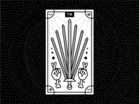Seven of Swords design