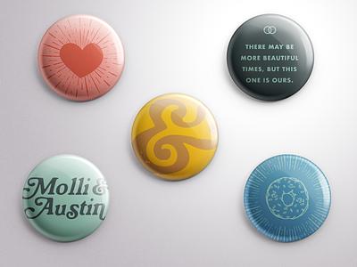 Wedding Pins love quote ampersand heart donuts married wedding design marriage wedding button button pins pins