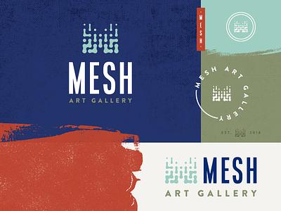 Mesh Art Gallery brand brand seal seal stamp mesh texture paint art gallery brand logo branding