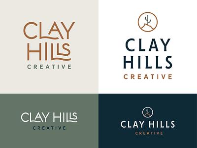 Clay Hills Creative rejects interior design west custom type wordmark hills cactus brand logo branding
