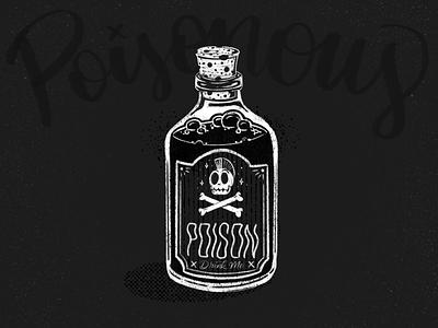 Inktober #1 inktober inktober2018 retro rubber hose poisonous poison skull procreate lettering script hand lettering vector illustration