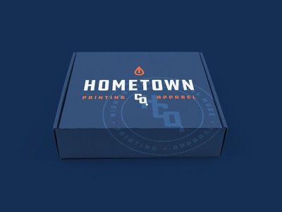 Hometown Co. Box box design shipping shipping box package logo identity branding packaging box