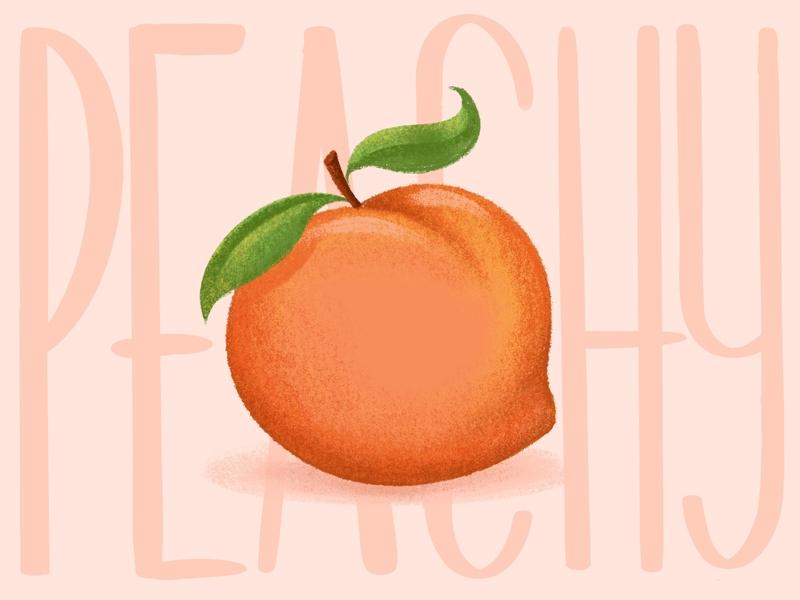 Peachy fruit plant orange procreate brush retrosupply retrosupplyco texture digital illustration illustration ipadpro procreat peachy peach