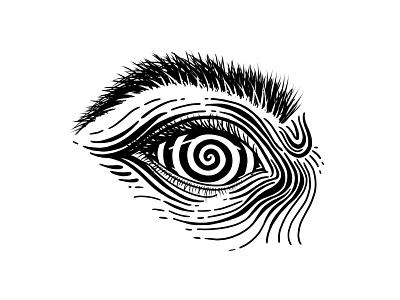 Lazy eye procreate illustration procreate ipad black and white eyebrow eyeball mesmerize eye illustration illustration eye