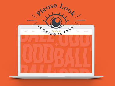 Oddball Design Co. website odd orange oddballdesignco oddball logo squarespace design squarespace website design web design branding