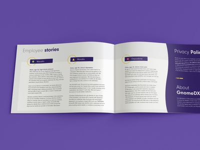 GnomeDX Corporate Brochure startup dna testing dna brochure layout brochure design booklet design information print booklet corporate brochure brochure corporate