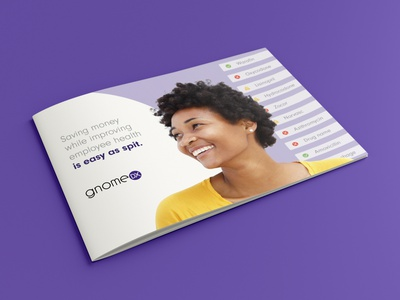 GnomeDX Corporate Brochure startup dna testing dna brochure layout brochure design booklet design information print booklet corporate brochure brochure corporate