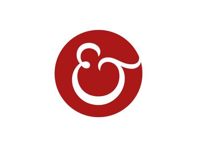 Efficient Technology Brandmark ampersand custom circle logo typography tech servicenow