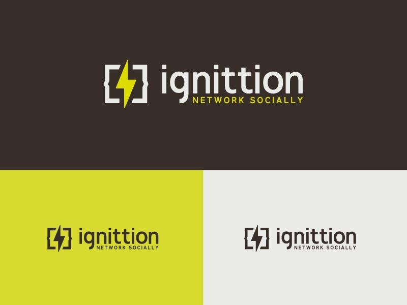 Final Ignittion Logo yellow logo identity branding code labs san diego social