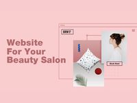 Beauty Salon Wireframe
