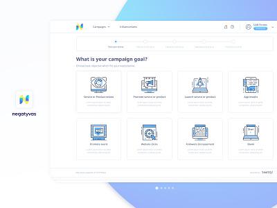Brand & Bloger Platform /  Step by step #1 step-by-step step blue bar progress design illustration platform bloger brand ux ui