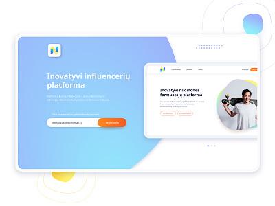 Subscrribe  Brand and Bloger Platform subscribe form register form uidesign uxdesign registration subscribe brand bloger platform design website