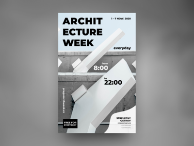 Poster for ARCHITECTURE WEEK in Prague