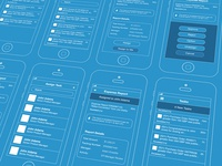 iOS Mobile App Wireframes