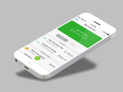 Mobile Expenses sketch iphone ios clean expense transactions ios7 minimalist ui mobile