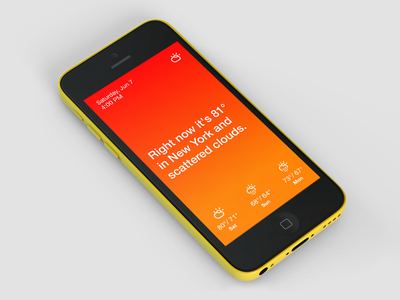 Horizon: Simple Weather weather clean design climacons ios mobile sketch minimalist app