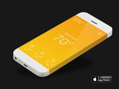 Horizon: Simple Weather app store ios weather climacons sketch iphone apple clean minimalist