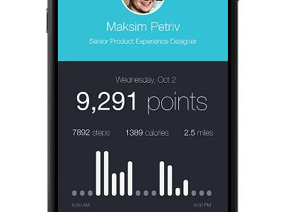 iPhone 6: Fitness App fitness health ios iphone 6 clean minimal