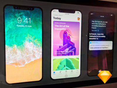 iPhone 8 UI Template File