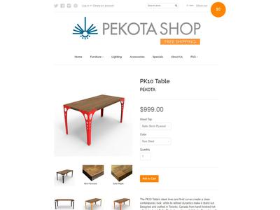 Pekota Shop Product page