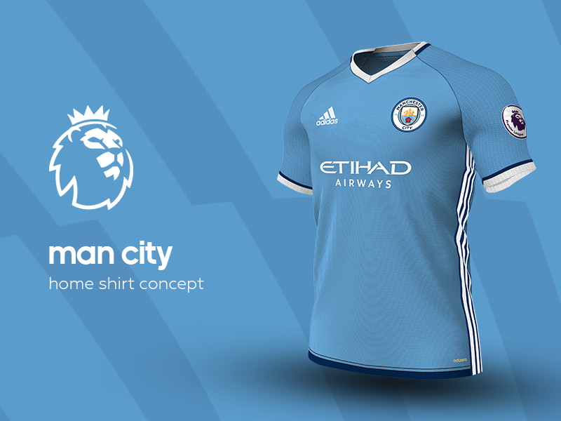 Man City Home Shirt by adidas. by Daniel Watts ... 64ff9f3a1