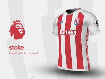 Stoke Home Shirt by adidas stoke premier league adidas football kit jersey soccer