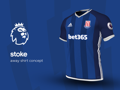 Stoke Away Shirt by adidas stoke premier league adidas football kit jersey soccer