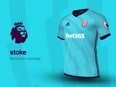 Stoke Third Shirt by adidas stoke premier league adidas football kit jersey soccer
