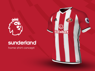 Sunderland Home Shirt by adidas sunderland premier league adidas football kit jersey soccer