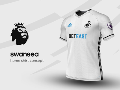 Swansea Home Shirt by adidas swansea premier league adidas football kit jersey soccer